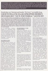 Artikel uit het Limburgs Dagblad - 19-02-1952